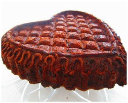 Nordic Ware Backform Herz, Rezept Schokoladenkuchen