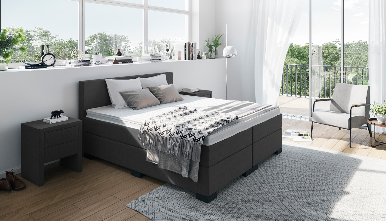 boxspringbett william getestet qualit t zum fairen preis. Black Bedroom Furniture Sets. Home Design Ideas