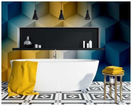 fototapete im bad eine gute dekorationsidee. Black Bedroom Furniture Sets. Home Design Ideas