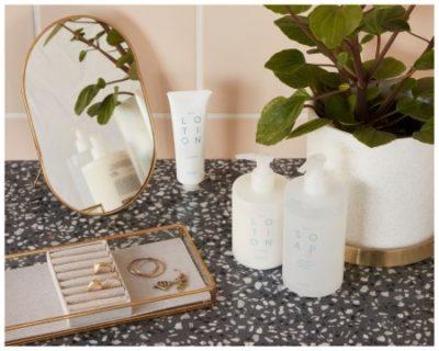 Spülmittel, Handseife und Handcreme von Hübsch